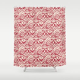 lezat red Shower Curtain