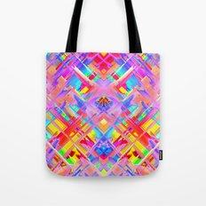 Colorful digital art splashing G470 Tote Bag
