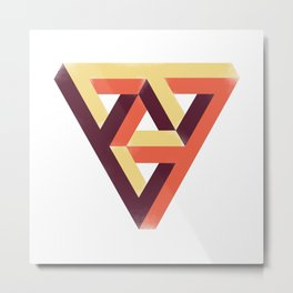 Double Penrose Triangle Metal Print
