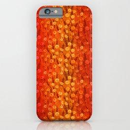 Dandelions Field, Floral Pattern, Tiny Flowers, Scarlet Saffron  iPhone Case