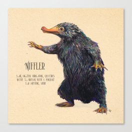 Niffler art Fantastic Beasts Canvas Print