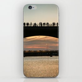 People at sunset iPhone Skin