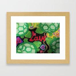 Love Turtles Framed Art Print