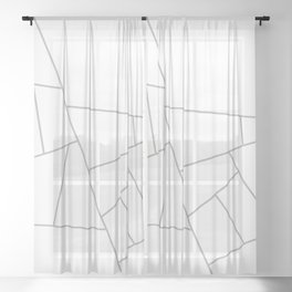 Modern Geometric 59 Sheer Curtain