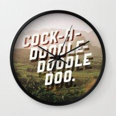 Cock-A-Doodle-Doodle Doo Wall Clock