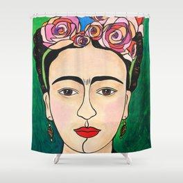 Frida Khalo Portrait Shower Curtain