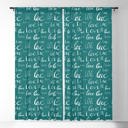 Words of Love // Blue Stone Blackout Curtain