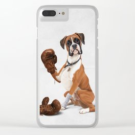 The Boxer (Wordless) Clear iPhone Case