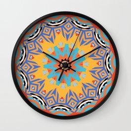 striped mandala Wall Clock