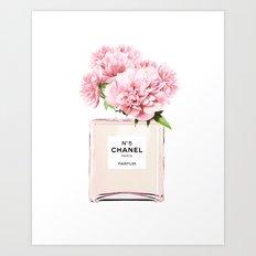 Flowers print, Fashion, Perfume, Scandinavian, Minimalist, Wall Art Art Print