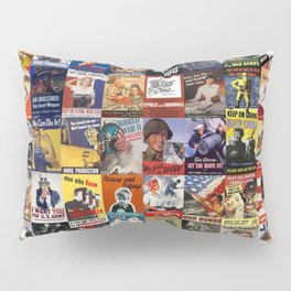 WWII Posters Pillow Sham