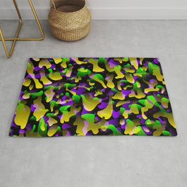 Creative spotted yellow and colored spots and splashes of paint. Rug