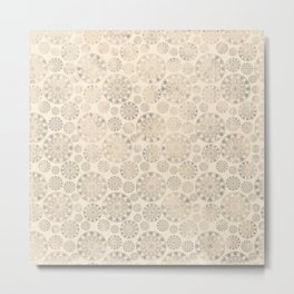 Ceramic tile pattern - Beige shabby - old Metal Print