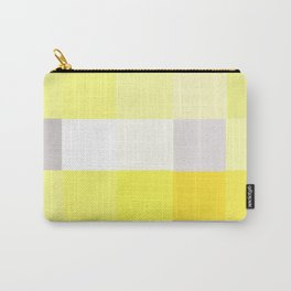 Yellow + Grey Pixel Carry-All Pouch