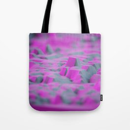 the pink rock polygons land Tote Bag