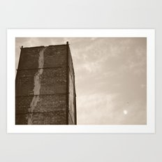 Climbing For The Moon Art Print