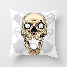 Skull 002 Throw Pillow