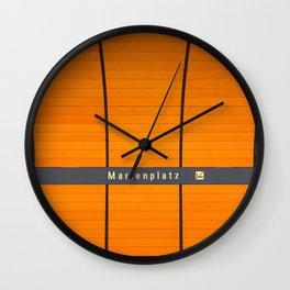 Munich U-Bahn Memories - Marienplatz Wall Clock