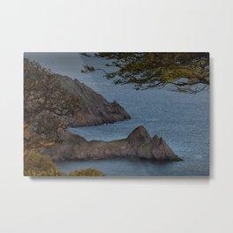 High tide at Three Cliffs Bay Swansea Metal Print