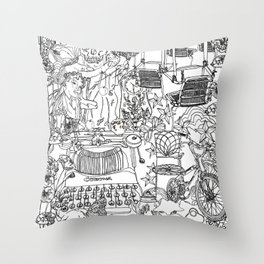A day out with Lula Throw Pillow