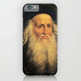 Leonardo Da Vinci self portrait iPhone Case