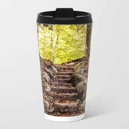 Rock Stairway Cades Cove Tennessee by Alli Gunter Photography Metal Travel Mug