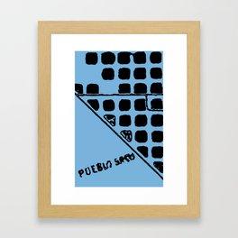MAPSTRACT SERIES NO.2 (BARCELONA DETAIL) Framed Art Print