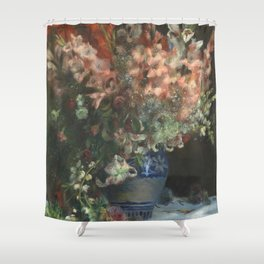 Gladioli in a Vase by Renoir Shower Curtain