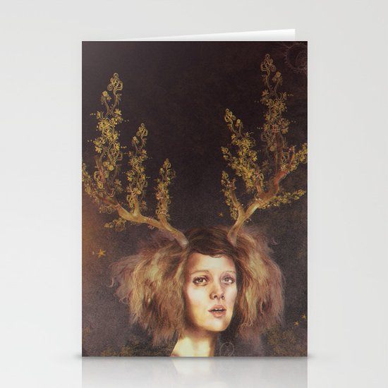 The Golden Antlers Stationery Cards