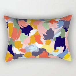 Bright Paint Blobs Rectangular Pillow