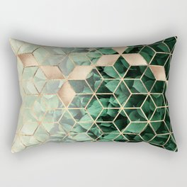 Leaves And Cubes Rectangular Pillow