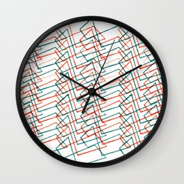Abstract in-line_red Wall Clock