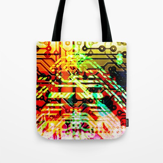 Color circuit Tote Bag