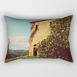 Tuscany Italy Countryside With Villa Rectangular Pillow