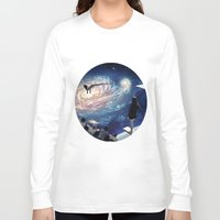 swimming Long Sleeve T-shirts featuring Swimming Pool by Cs025