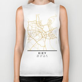 KIEV UKRAINE CITY STREET MAP ART Biker Tank