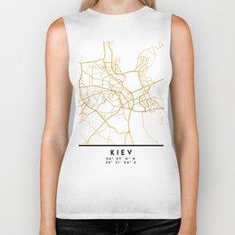 KIEV UKRAINE CITY STREET MAP ART Biker Tank