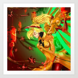 Golden Mercy Art Print