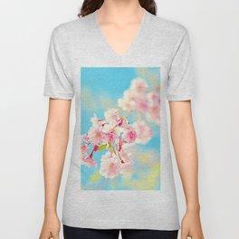 Spring Cherry Blossom Unisex V-Neck