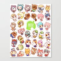 animal crossing Canvas Prints featuring Animal Crossing New Leaf by Kaiami