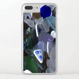 Sea Glass Assortment 4 Clear iPhone Case