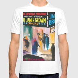The Apollo Theater of Harlem Present James Brown Live Portrait T-shirt