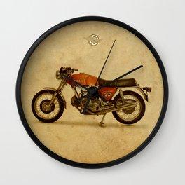 Vintage old motorcycle 750GT 1971 vintage background Wall Clock