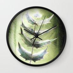 Frozen Mahonia Wall Clock