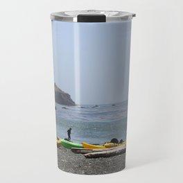 Canoes At Bodega Bay Travel Mug