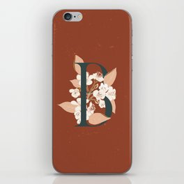 Letter B for Bergenia iPhone Skin