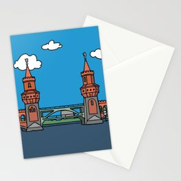 Oberbaum Bridge in Berlin Stationery Cards