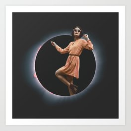 Eclipse Girl Art Print