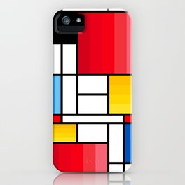 Mondrian in a different way - RUG iPhone Case