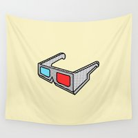3d Wall Tapestries featuring 3d glasses by gazonula
